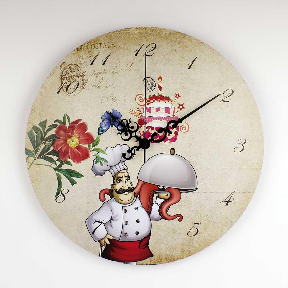 Relojes De Pared De Cocina   Tienda Online Cocina De Dibujos Animados Reloj De Pared Con Esfera
