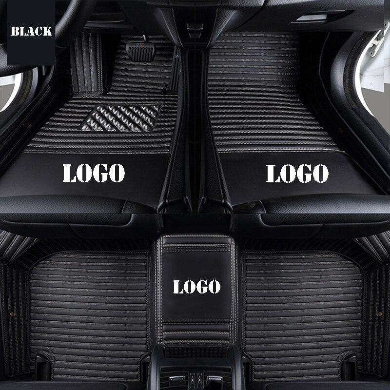 Custom logo car floor mats for mitsubishi outlander xl pajero 4 pajero sport lancer galant grandis auto accessories car mats