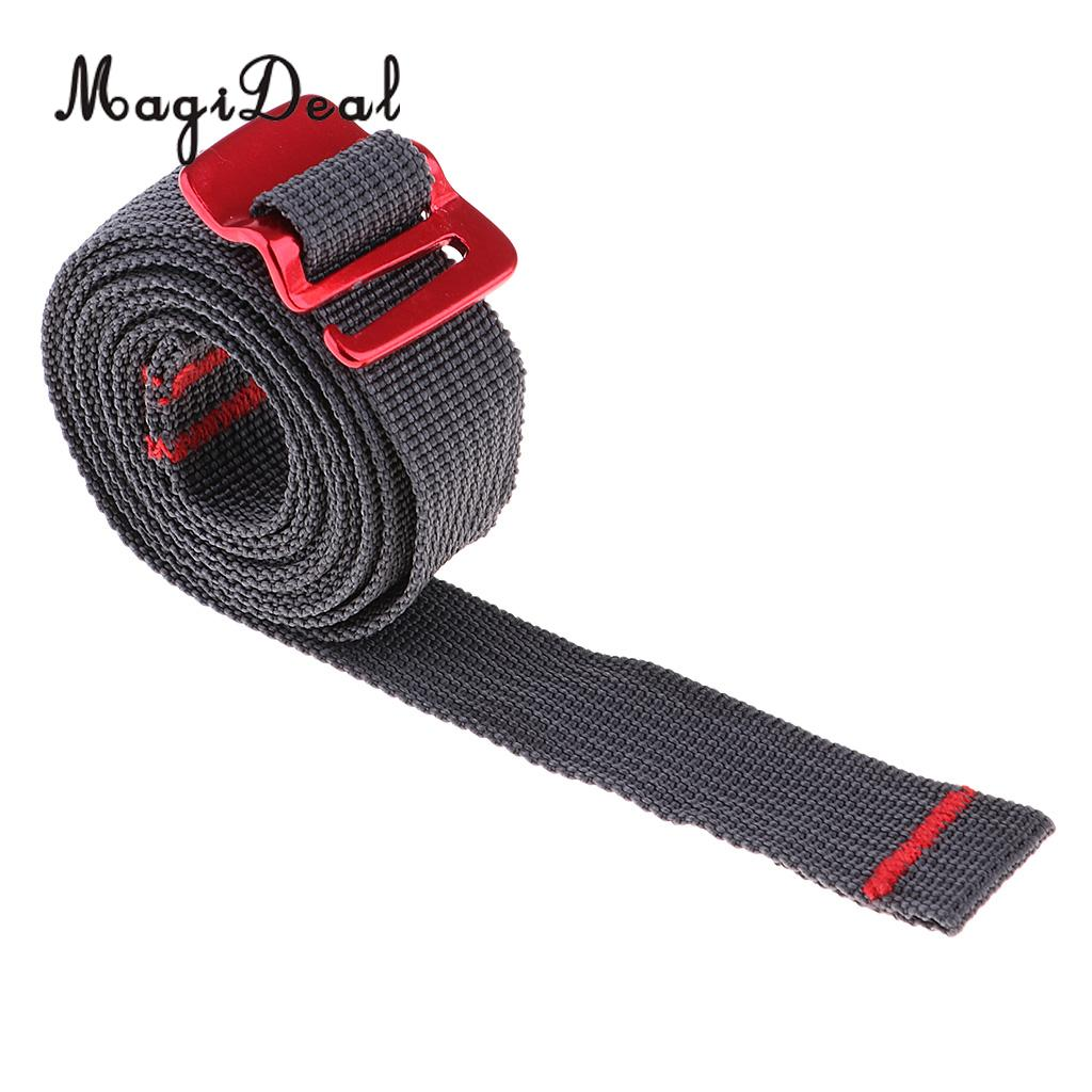 1.5m Strapping Cord Tape Nylon Rope Belt With Quick Release Metal Hook For Tightening Up Backpacks, Tents, Sleeping Bag, Luggage