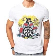 Men Clothes 2019 Summer T-Shirt Rock N Roll Design Tops Cotton Short-Sleeve White Mens T Shirt Skull Band Singer Man Tee Shirts