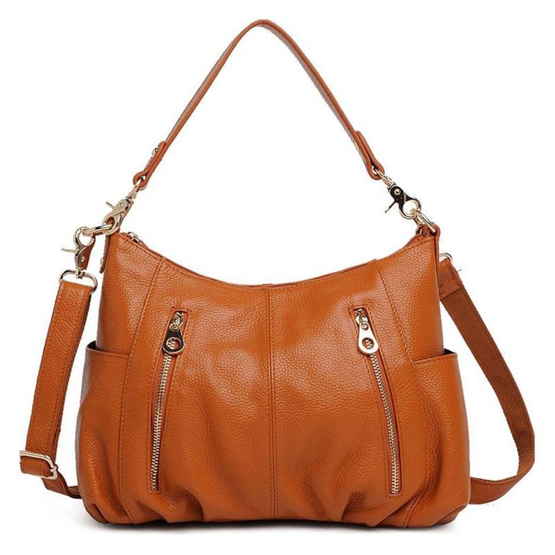 Real Genuine Leather Bags Fashion Women Handbag Soft Cow Leather Women Bag Brand Luxury Ladies Messenger Shoulder Bags 2016