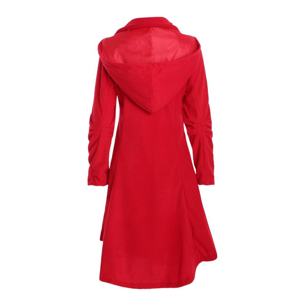 Pardessus Occasionnel Base Le Vers Veste Solide Slim Hiver Chaud Bas Tournent Manteau Nouveau Parka Femme Épaisse rouge De Outwear Femmes Long Noir fwpqadnfB