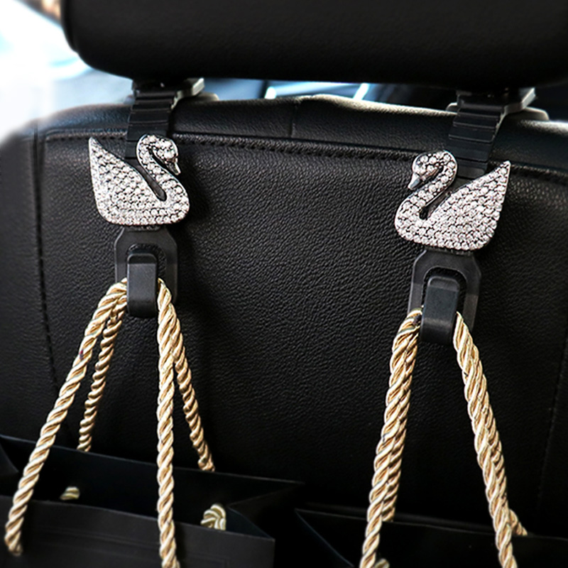 f7b0268513c 1 Pair Cute hello Kitty Car Back Seat Hooks Holder For Bag Purse Cloth  Grocer Flexible Hanger Organizer Car Styling Accessories-in Stowing Tidying  from ...