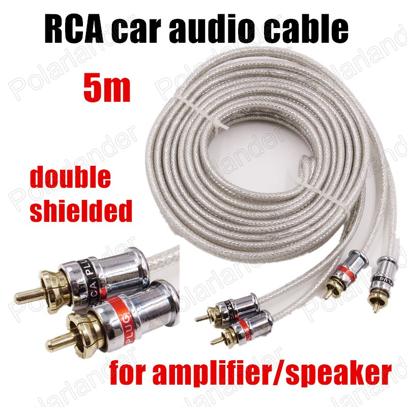 high quality 5 meters RCA to RCA Car Audio stereo Cable wire for car font b