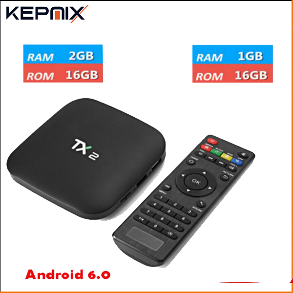 TX2 R2 20pcs TX2 R1 Rockchip RK3229 Android 6.0 TV BOX Support H.265 4K 60tps H.265 2.4GHz WiFi BT2.1 Media Player IPTV Box