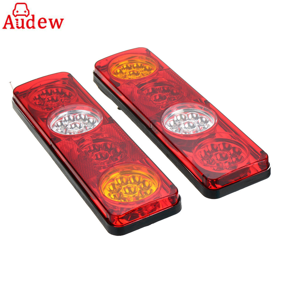 2pcs LED Car Lamp Auto Rear Tail Lights Lamp Brake Stop Light Waterproof for Trailer Caravan Truck Lorry 36LED 24V red white 1 pair 24v 36 led trailer car truck led tail light lamp auto rear light tail light