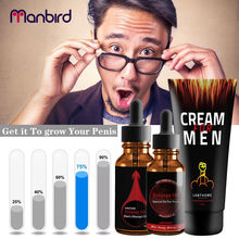 Manbird Big dick penis enlargement cream Essential Oil Gel Men Cock Size Grow extender Thickening Permanent Sex Delay Product