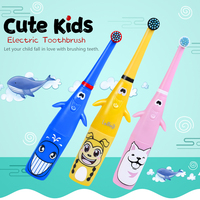 Children Electric Toothbrush With 2 Brush Heads Kids Cute Soft Hair Toothbrush Rotary electric toothbrush for children aged 3-12