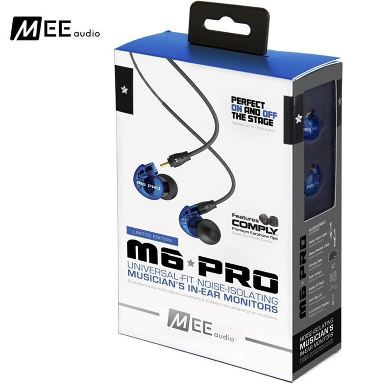 24 Hours Shipping MEE Audio M6 PRO Noise Canceling 3.5mm HiFi In-Ear Monitors Earphones with Detachable Cables Wired headset motivi motivi mo042ewjim33