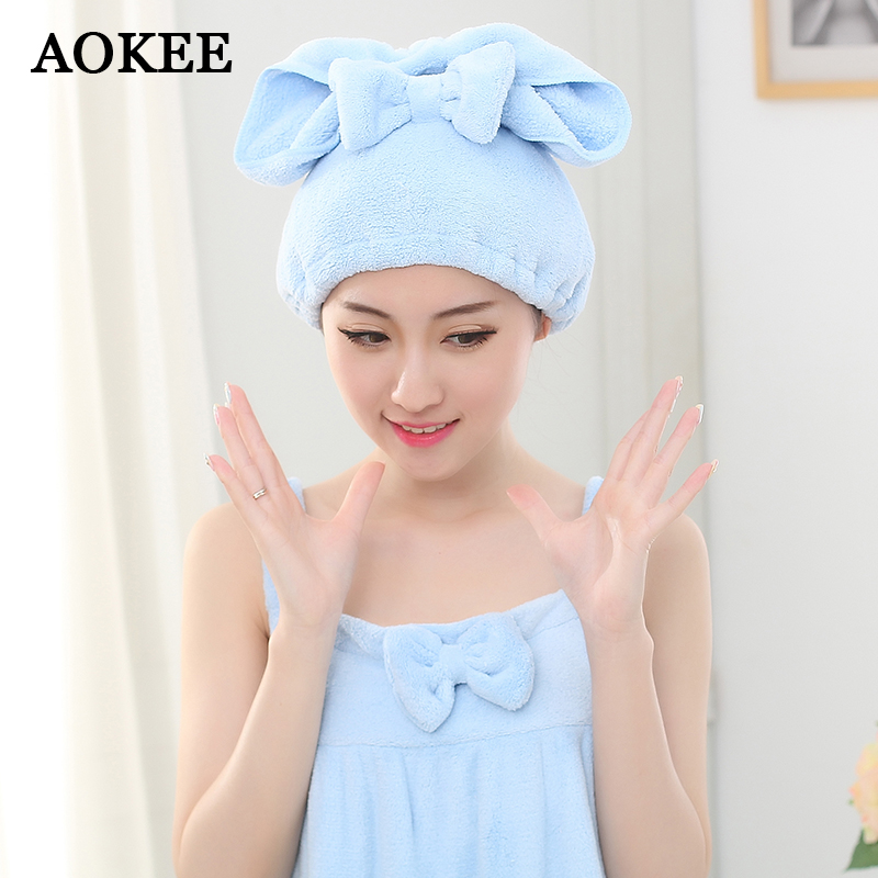 Aokee Shower Caps Cute Soft Hair Drying Towel Hair Dry