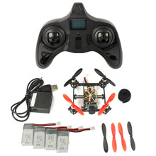 Feichao Mini Tiny QX80 FPV DIY Drone with 5.8G 25mW Camera 80mm Carbon Brushed Indoor RC Quadcopter RTF Assemble Kit Full Set
