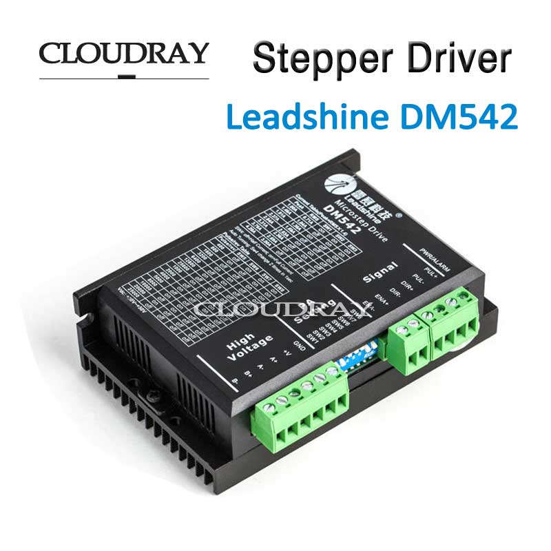 Cloudray Stepper Motor Driver 2 Leadshine Phase DC Motor Driver Controller For 20-50 VDC 1.0-4.2A CNC Router Kits Drive DM542 leadshine stepper motor driver 3dm 683 3 phase digital stepper drive max 60vac 8 3a