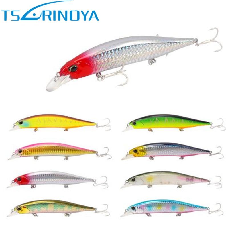 все цены на Tsurinoya Minnow Bait 120mm/19.5g Hooks Fishing Lures China Iscas Artificiais Para Pesca Swimbait Leurre Peche Brochet онлайн