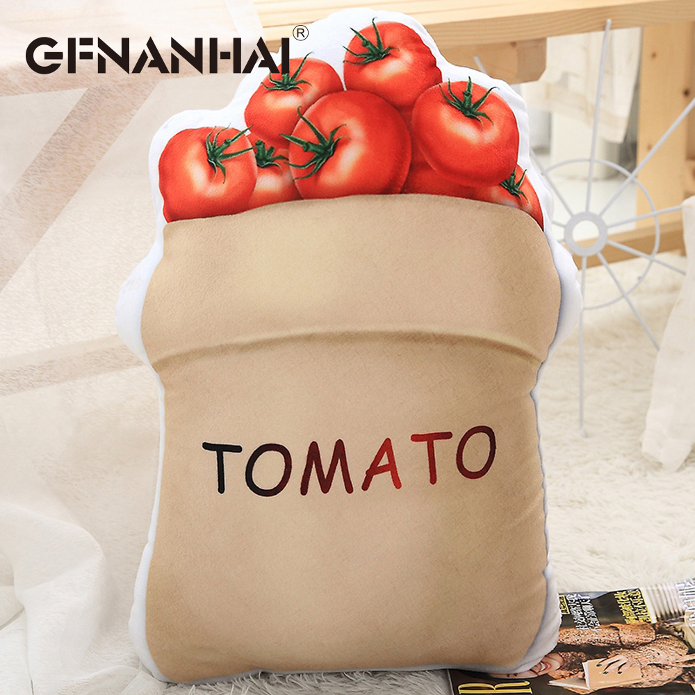 Toys & Hobbies Fashion Style Like Real Food Pillow Plush Coffee Milk Tomato Bread Pan Fruit Red Wine Breakfast Creative Chair Home Sofa Bed Decor Pillow