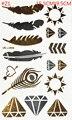 Много 6 стиль золото и серебро металл боди-арт хной временные татуировки sexy крылья Флэш татуировки пастер