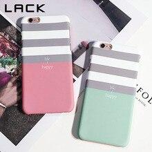 LACK Stripe Phone Case For iPhone X