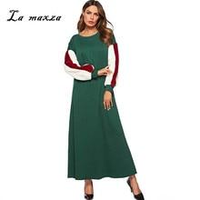 Womens Muslim Abaya Maxi Dress Islamic Robe Kaftan Dubai Muslim Evening Dress  Plus Size Pakistani Dress dab9c20ce64f