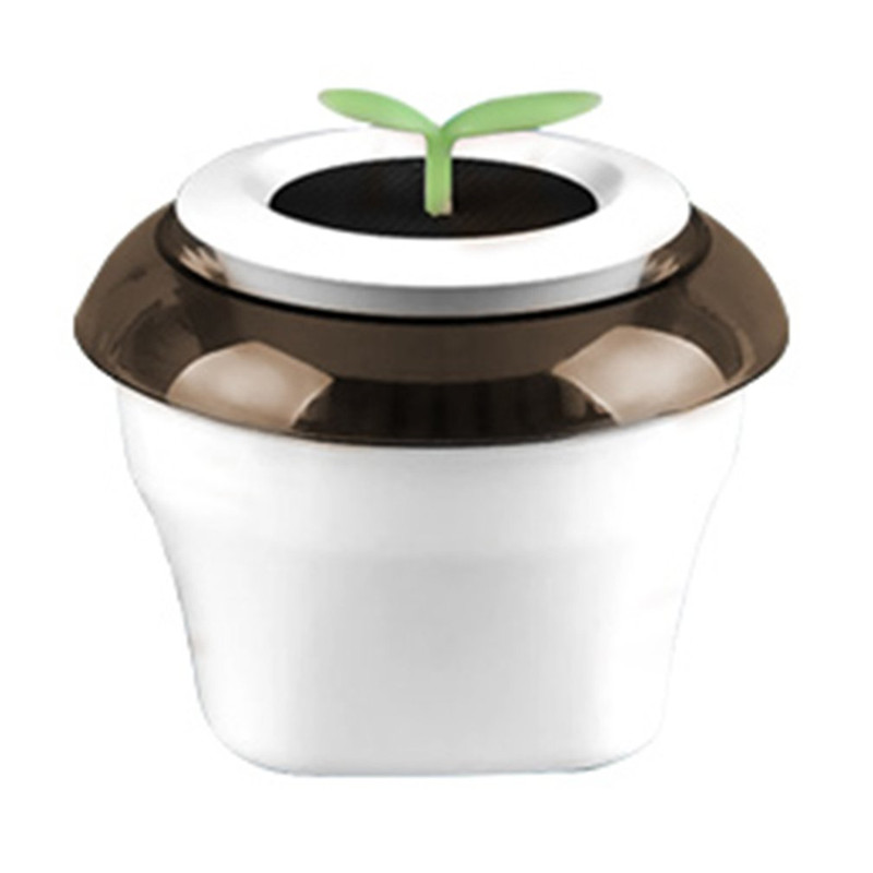 Portable USB Car Air Purifier Negative Ion Air Purifier Car Ionizer Anion Air Cleaner Office Home Flowerpot Freshener car outlet perfume air freshener with thermometer lime