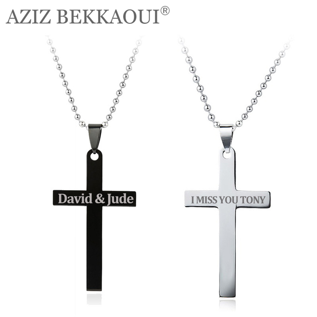 Brand-new Stainless Steel Cross Pendant Necklaces for Women Men Unique  TI03