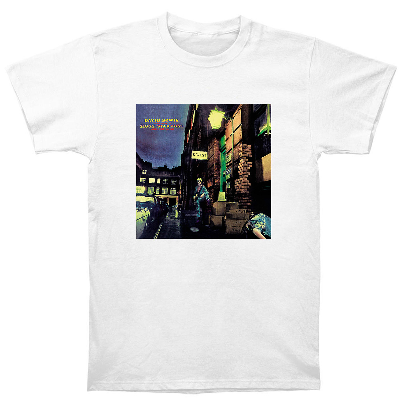 David Bowie The Rise And Fall Of Ziggy Stardust And The <font><b>Spiders</b></font> From Mars T Shirt <font><b>CD</b></font> Vinyl Poster T-Shirts New