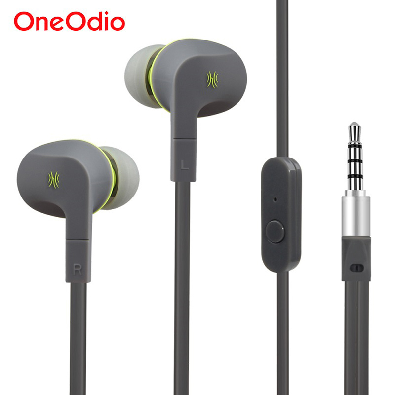 Original Oneodio Stereo Earbud Noise Cancelling In-Ear Sport Earphone Wired Headset With Mic For Xiaomi Samsung Mobile Phone oneodio stereo gaming headset for phone pc computer headphones with mic over ear noise cancelling for pc ps4 xbox mobile