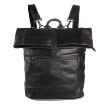 7204J J.M.D Genuine Italy Leather Men's Grey Shoulders Bag For Men's Laptop Backpack
