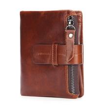 2019 Vintage Casual Design Man Wallet Cowhide Genuine Leather Men Business New Purse Card Holder