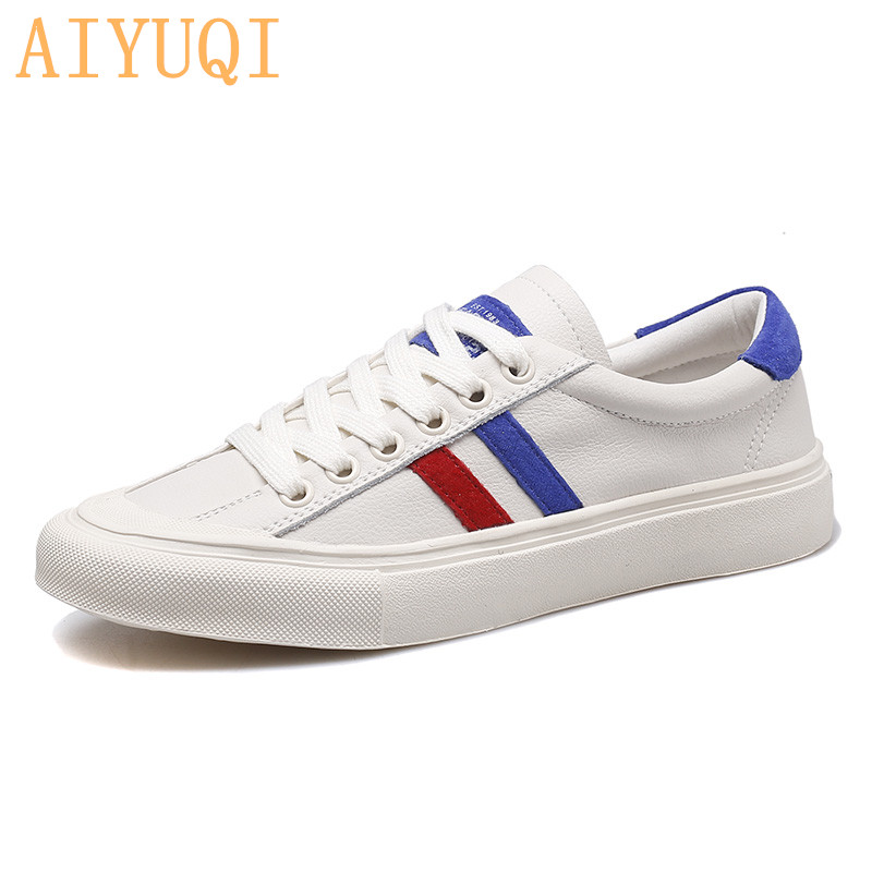 AIYUQI Female Sneakers flat 2019 new spring women vulcanized shoes genuine leather breathable fashion student shoes womenAIYUQI Female Sneakers flat 2019 new spring women vulcanized shoes genuine leather breathable fashion student shoes women