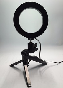 Image 3 - Photo Ring LED 14.5cm Photographic Lighting+Tripod Phone Video Photography Ring Light USB Line 3000k 6000k White Yellow Color
