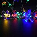 Vacaciones Cereza Garland AA Batería LED Luces de la Secuencia 5 M 50LED Ferias Rose Garland LED Luzes Cordas Bateria de Eventos y Fiesta luz