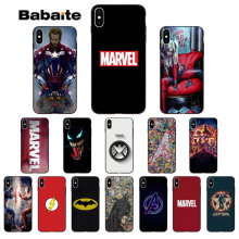 Babaite Marvel Avengers Captain America Batman Luxury Phone Case Cover for iPhone 5 5Sx 6 7 7plus 8 8Plus X XS MAX XR(China)