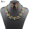 MS1504134 Fashion Jewlry Sets Gold plated 3 Colors High Quality Party Jewelry Crystal Unique S Design New Bridal Jewelry