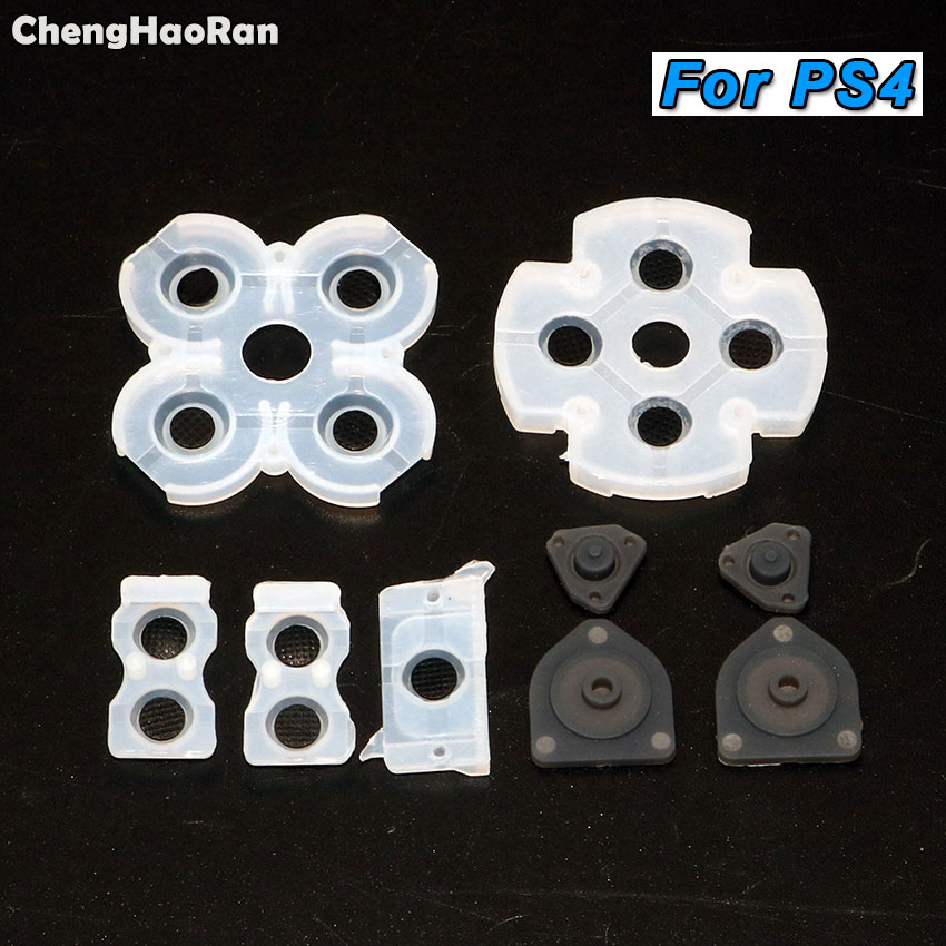 ChengHaoRan Silicone Rubber Conductive Pads Buttons Touches For PS2 PS3 PS4  Controller Repair Parts,JDM-001 011 JDS-030