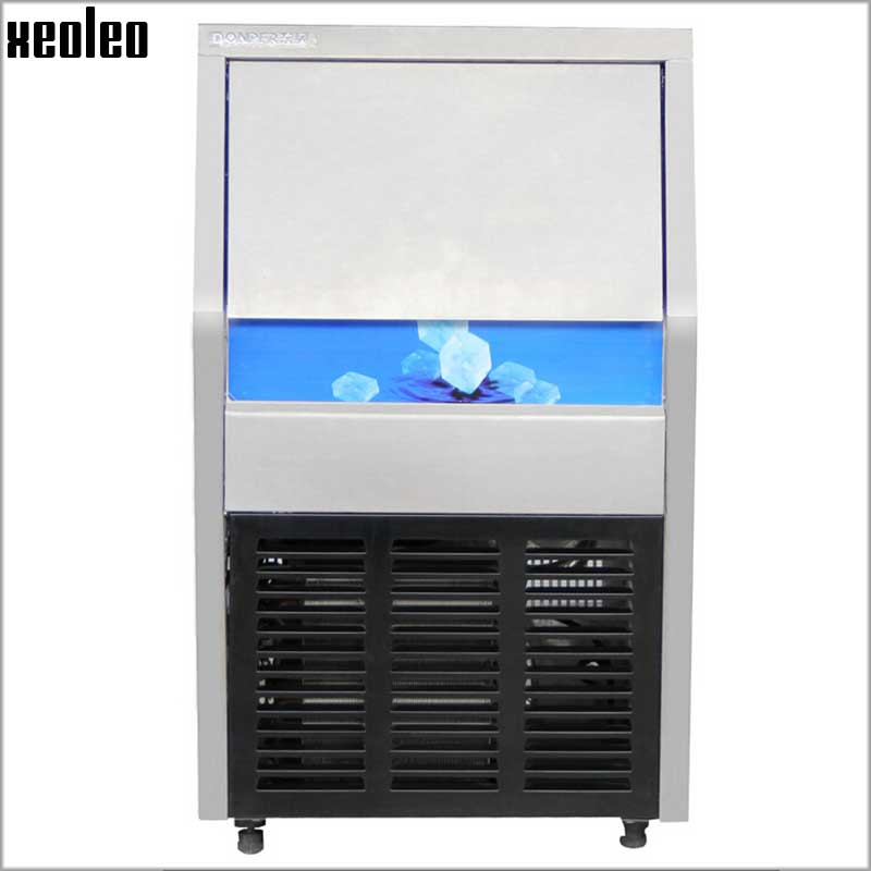 Xeoleo Commercial  Ice Maker 30kg/24h High Quality Ice Machine 8kg Storage 220V Ice Make Machine For Bubble Tea Shop/Catering