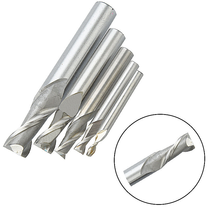 One Pieces 2 Flute Straight Shank End Mill Cutter CNC Drill Bits for Woodworking Milling Cutter Tool 4/6/8/10/12mm Machine Tool