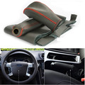3pcs Top Cowhide Sew-on Genuine Leather Steering Wheel Cover For Ford Mondeo AT