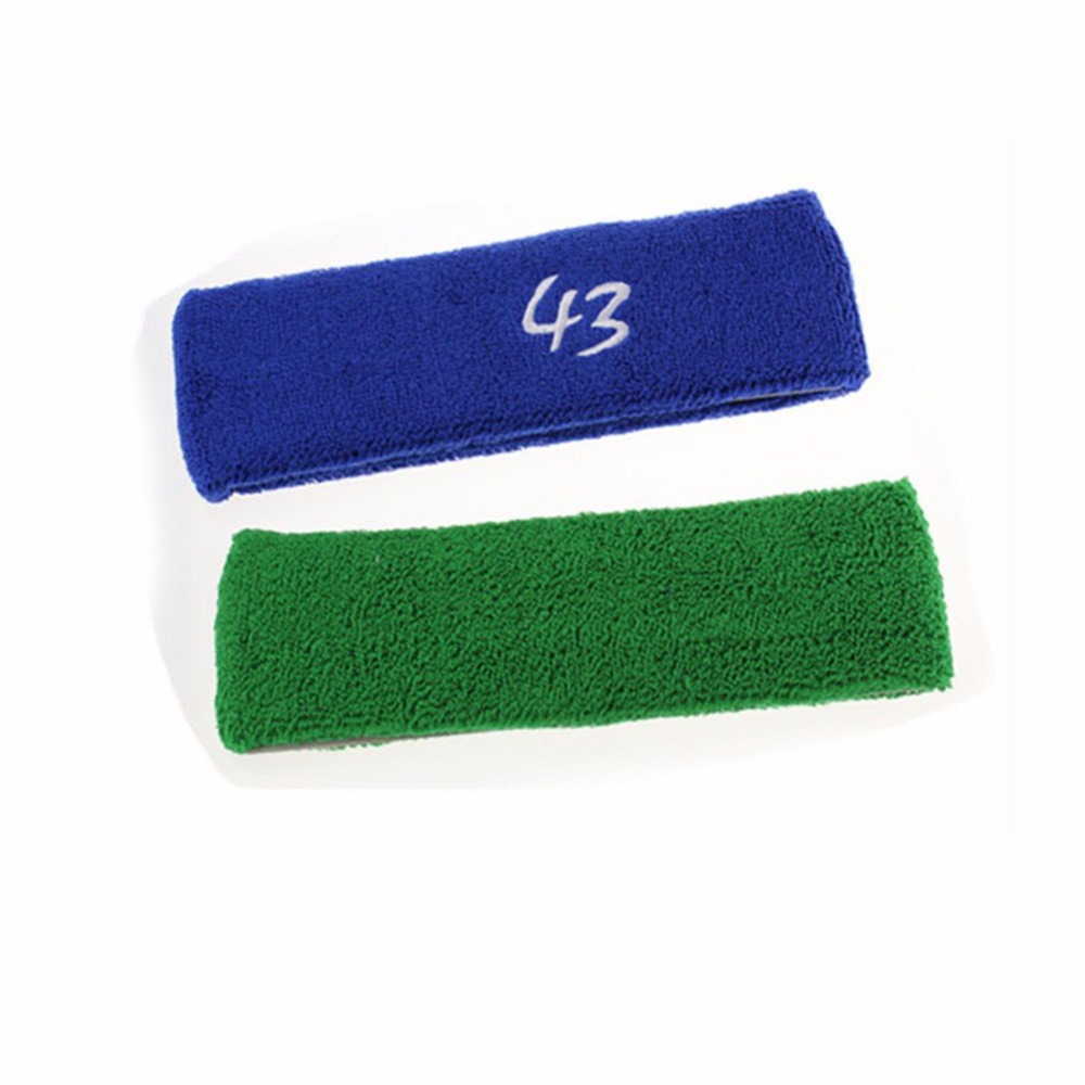 250pcs/lot Custom Logo Accept 100% Cotton Sports Head Band Gym Basketball Tennis Headband Hair Bands Several Colors Available