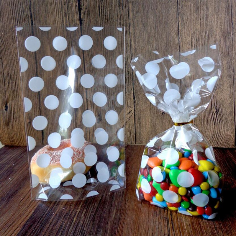 13*21cm 50pcs Transparent Open Top Plastic Bags For Candy Cookie Packaging Cellophane Bag DIY Gift Poly Opp Bags