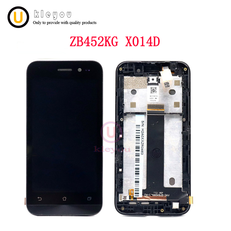 For 4.5'' ASUS ZenFone Go ZB452KG LCD screen Display +Touch Screen panel ZB452KG X014D Digitizer Glass Assembly +F