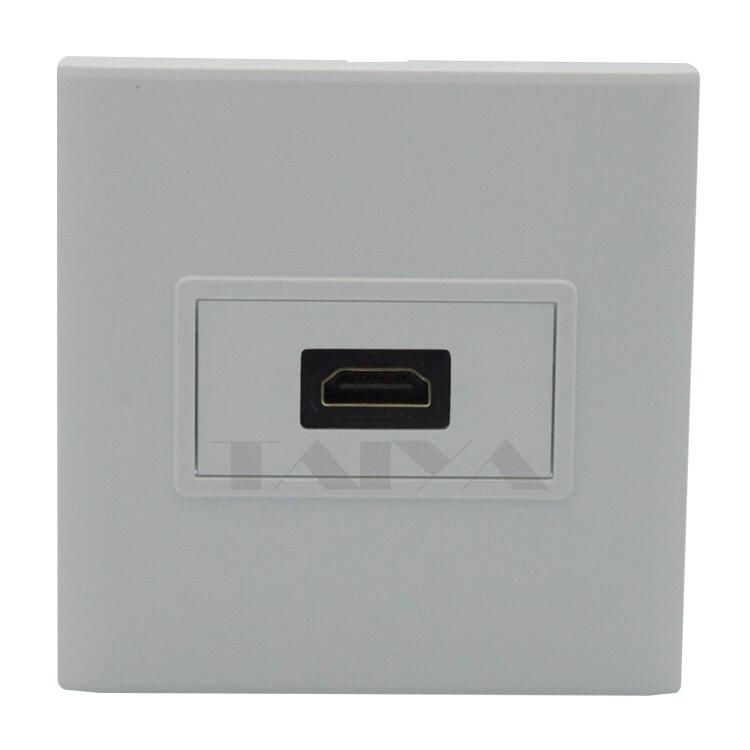 HDMI plaque murale avec dos femelle à connecteur femelle support 3D et 4 K