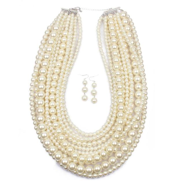 Pearl Jewelry Set Long...