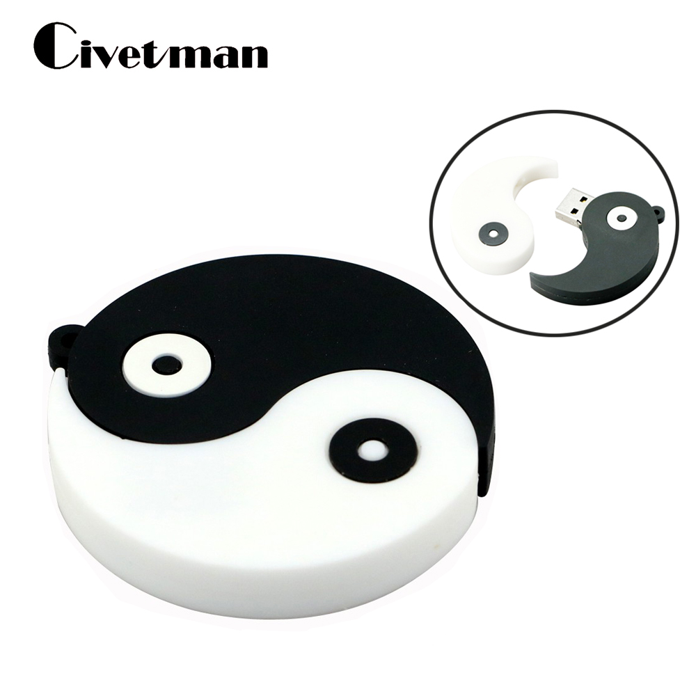New USB Flash Drive Pen Drive Cartoon Toy Gossip Yin-yang 4GB 8GB 16GB 32GB 64GB USB 2.0 Memory Stick U Disk Pendrive