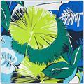 130x130 cm Женщины Шелковый Шарф Ручной Росписью Растений Саржи Бандана Свежий Марка Платки Femme Новый