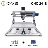 CNC 2418 With ER11 CNC Engraving Machine Pcb Milling Machine Wood Carving Machine MINI CNC Router