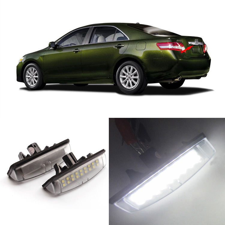 Ownsun 2PCS Superb 18 SMD Error Free LED Rear License Plate Light Lamps For Toyota Verso/Prius