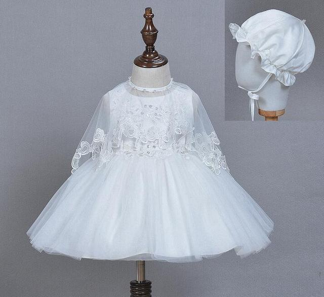 Newborn Baby Girl Frocks Christening Ball Gown Pearls Beading Infant ...