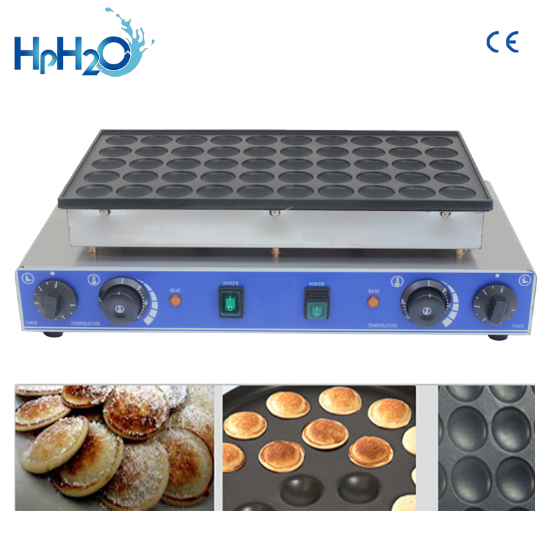 CE approved 110V/220V commercial 50 hole dorayaki machine, mini dutch pancakes, mini pancake maker Dutch Poffertjes grill