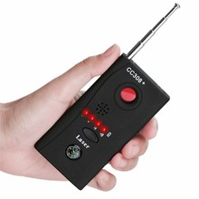 цены CC308+ Wireless Camera Lens Detector Radio Wave Signal Detect Camera Full-range WiFi RF Singnal Bug Laser GSM Device Finder