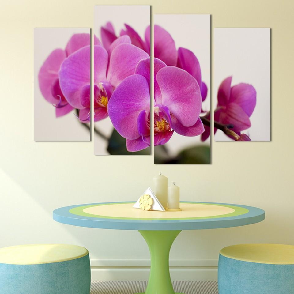 ⃝Rosa Flores pintura bodegón 4 unids unframed impresión de la ...