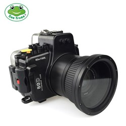 Seafrogs For Canon 80D 18-135mm Frofessinal Waterproof Case Underwater Diving Photography Sport Camera Housing Accessories Cover
